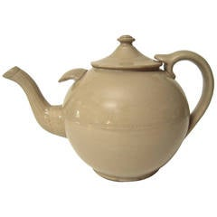 19th Century Giant English Stoneware Teapot