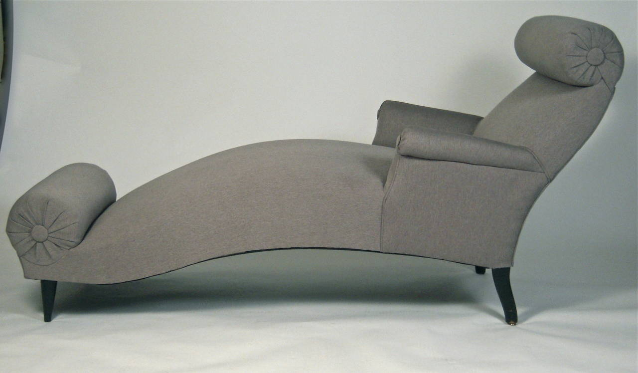 sculptural and comfortable 19th century french chaise longue at 1stdibs. Black Bedroom Furniture Sets. Home Design Ideas