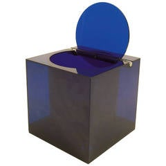 Rare Blue Lucite Cini & Nils Ice Bucket