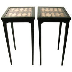 Pair of Grand Tour Intaglio Collection Occasional Tables