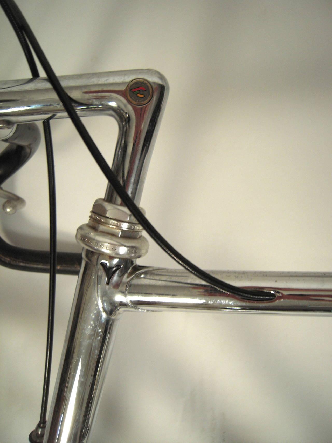 Rare custom made italcicli systems chrome plated swiss racing bicycle at 1stdibs - Decorative chrome plating ...
