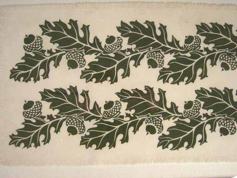 American Oak and Acorns Hand Block Printed Folly Cove Print