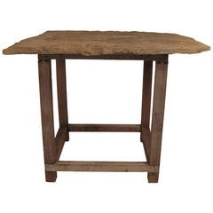 English Slate Top Garden or Indoor Table