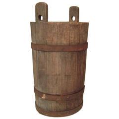 Tall Decorative European Farm Bucket