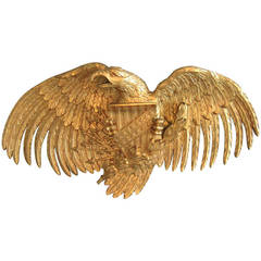Large and Beautifully Carved Gilt Wood American Eagle