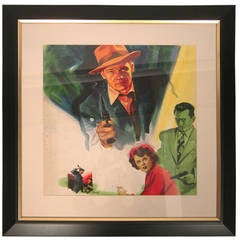 "Original Gene Widhoff Art for Film Noir Movie Poster, ""The Clay Pigeon"""