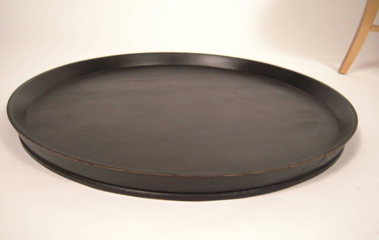 Kittinger Circular Tray Top Coffee Table At 1stdibs