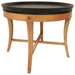 Kittinger Circular Tray Top Coffee Table