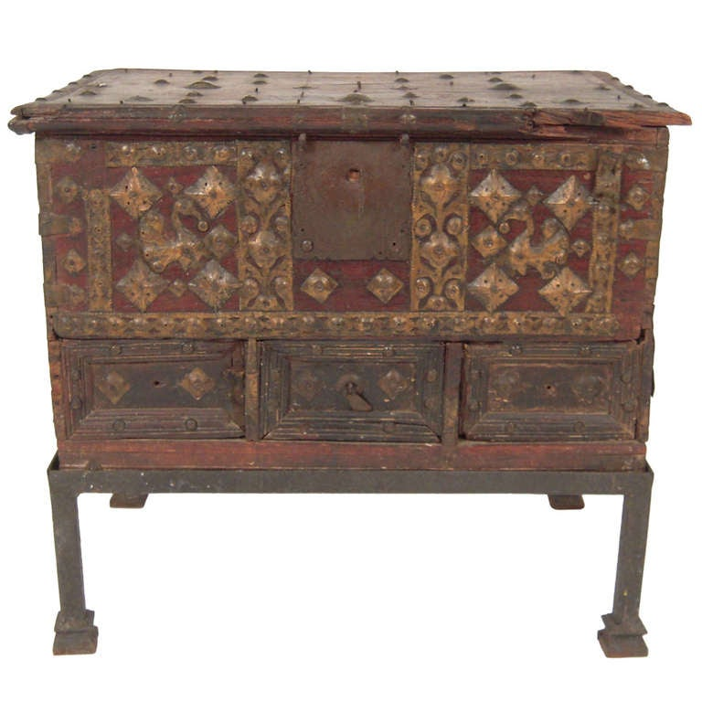 indian chest on stand occasional or small coffee table at