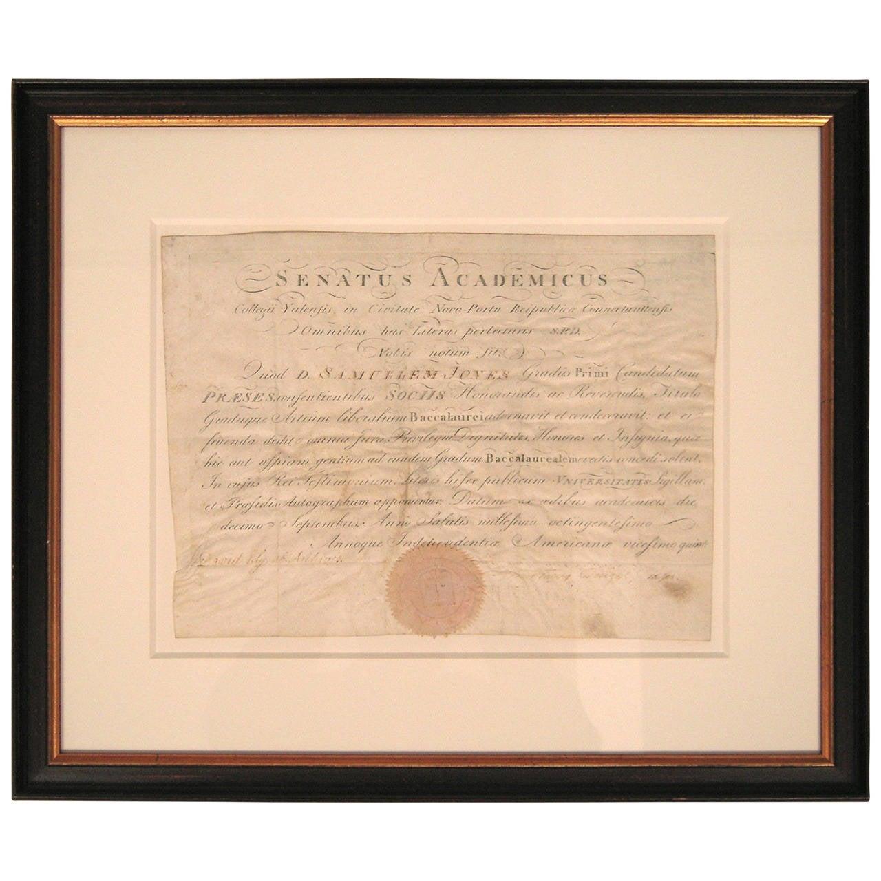 Yale Diploma Frame