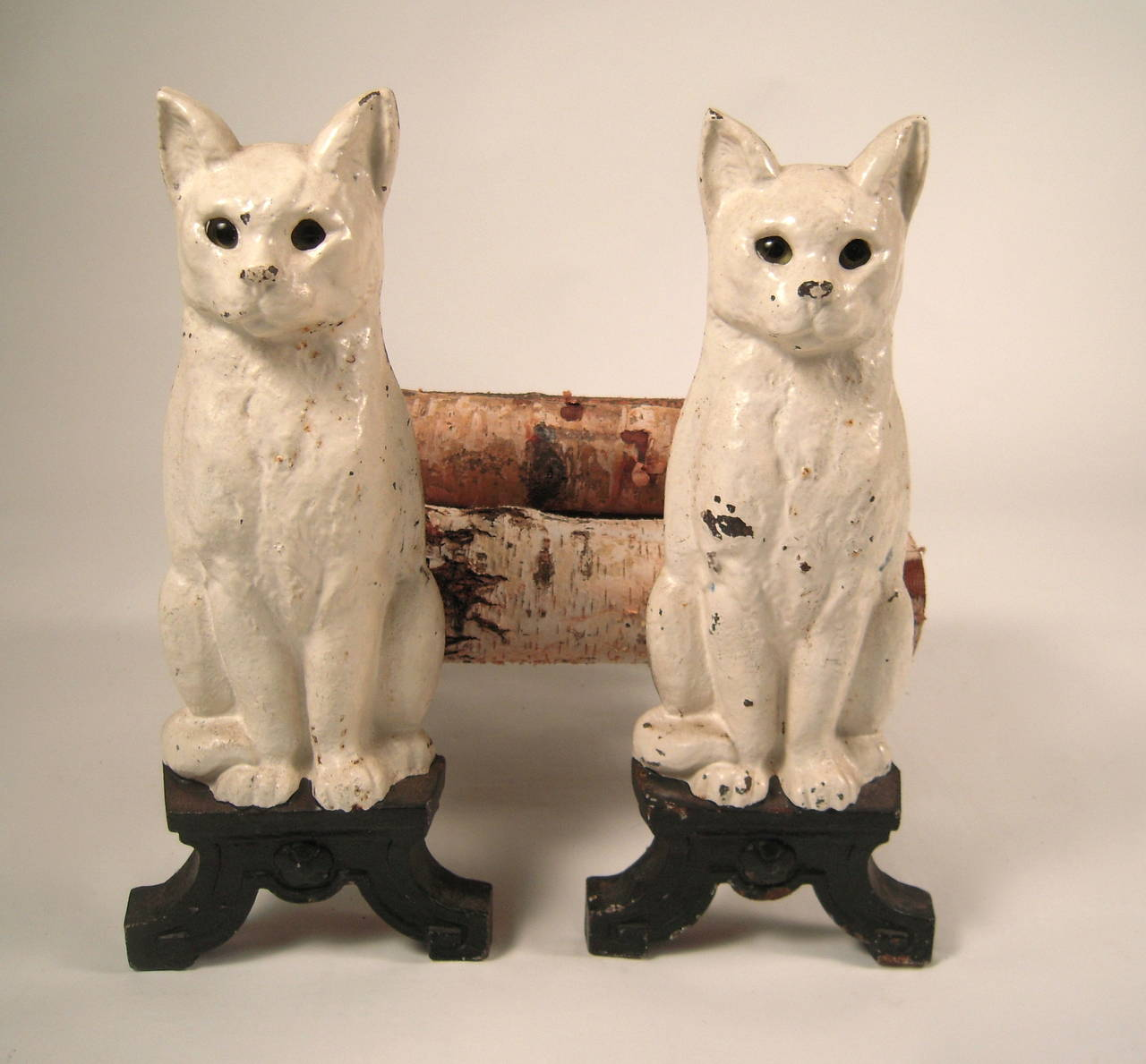 Cat Andirons For Sale