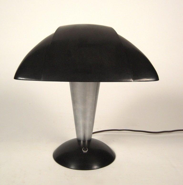 American Streamline Polaroid Desk Lamp by Walter Dorwin Teague, circa 1939 For Sale