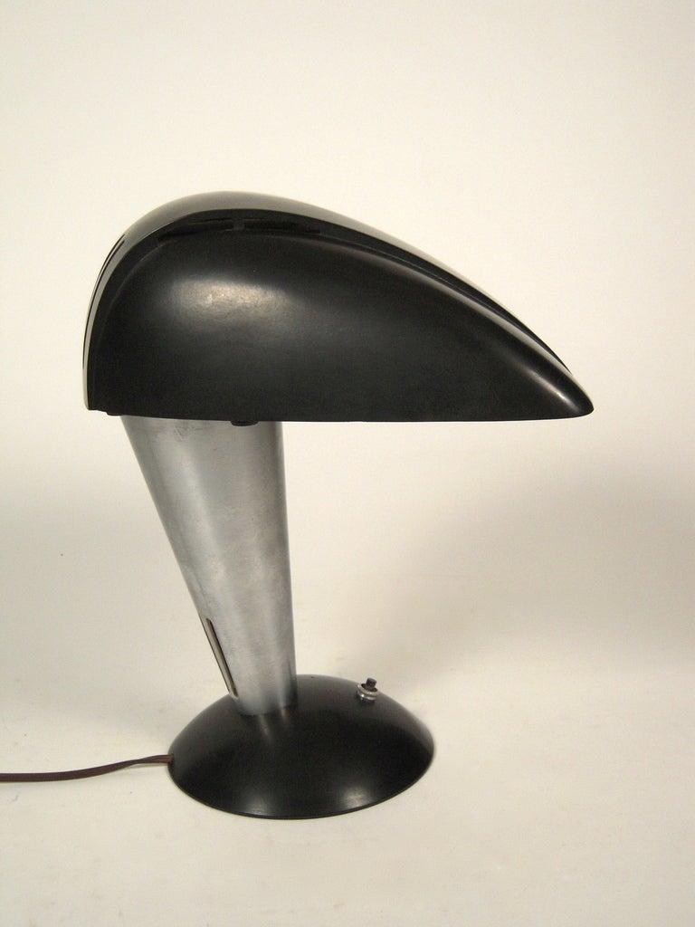 Mid-20th Century Streamline Polaroid Desk Lamp by Walter Dorwin Teague, circa 1939 For Sale