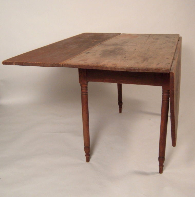 Early Northern New England Drop Leaf Dining Table For 8 At 1stdibs