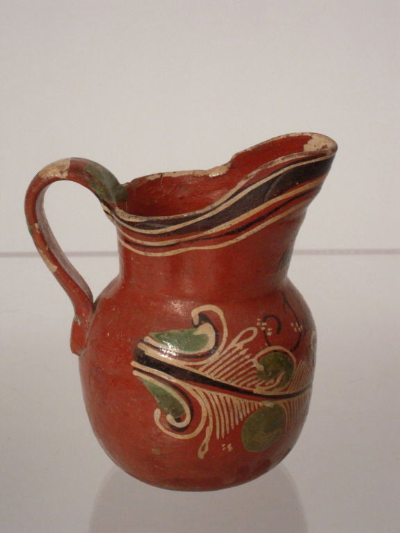Vintage Mexican Bandera Pottery Pitchers And Bowl At 1stdibs