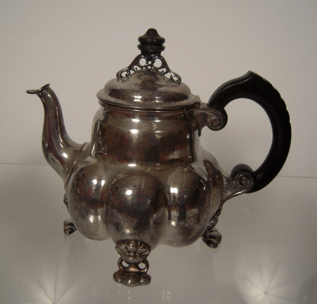 German Arts and Crafts Period Silver Tea and Coffee Service  For Sale