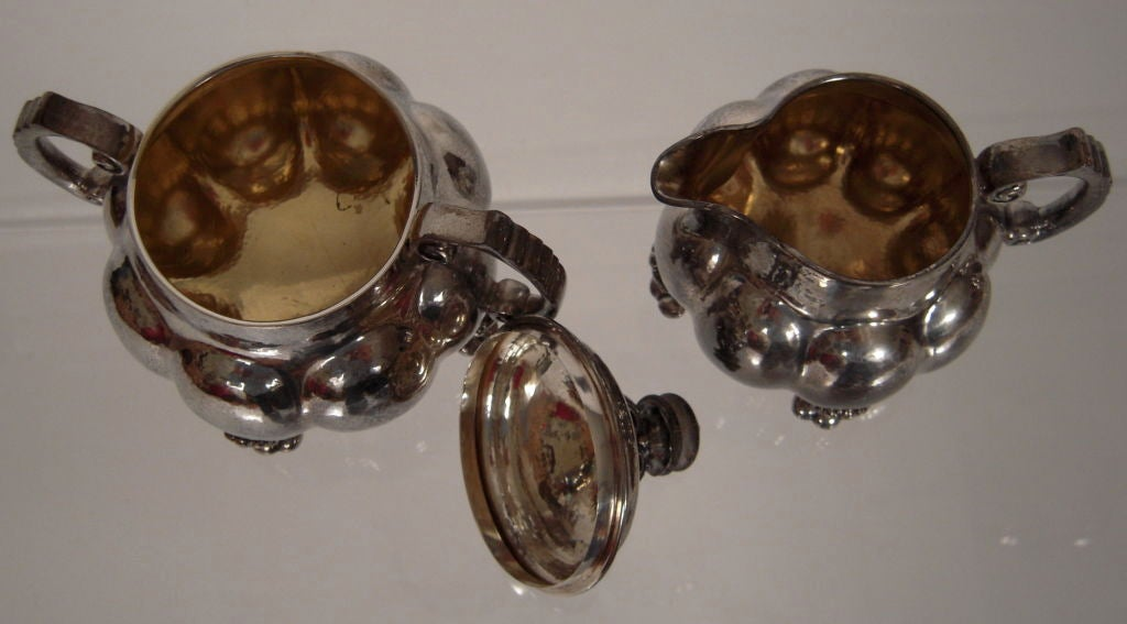Arts and Crafts Period Silver Tea and Coffee Service  For Sale 1