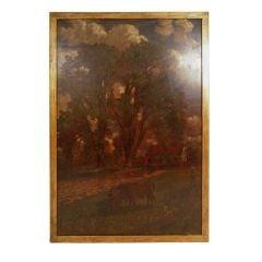 Large Connecticut Landscape Painting by D. Jerome Elwell, circa 1888