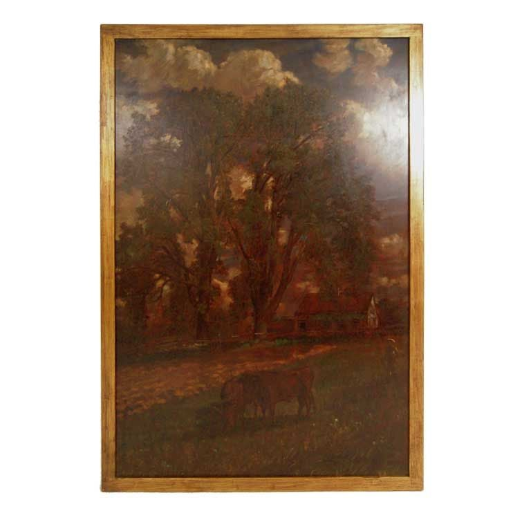 D. Jerome Elwell Connecticut Landscape Painting For Sale