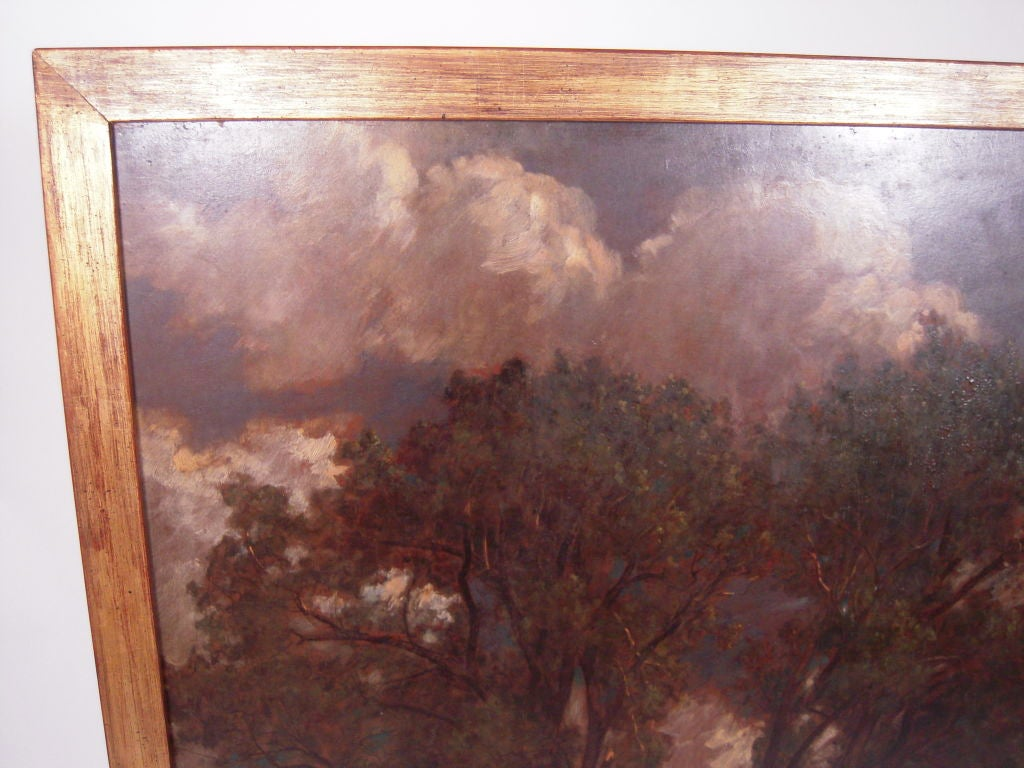 Barbizon School D. Jerome Elwell Connecticut Landscape Painting For Sale