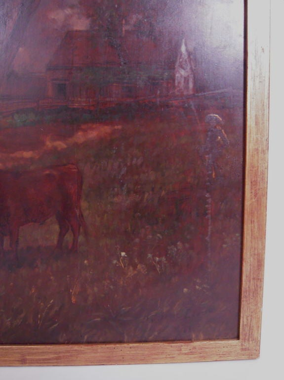 D. Jerome Elwell Connecticut Landscape Painting In Good Condition For Sale In Essex, MA