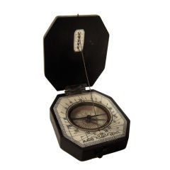 19th Century Baroque Style Pocket Compass and Sundial