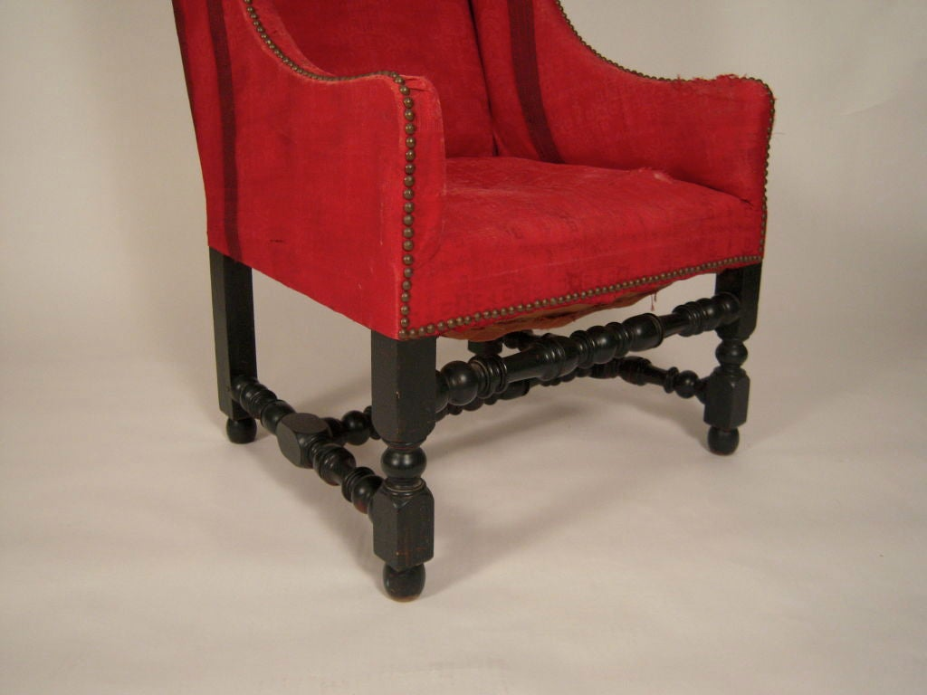 19th Century William And Mary Style Wing Chair At 1stdibs