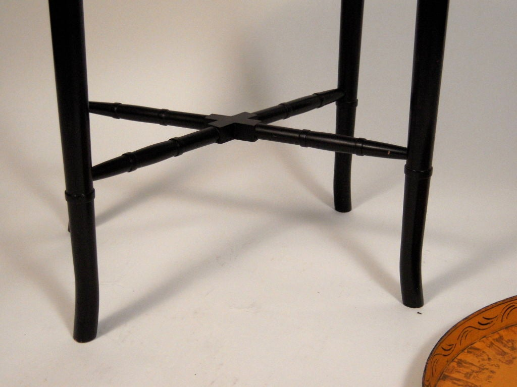 A 19th Century French Yellow  Tole Tray Table 3