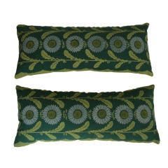 One Vintage 'Lazy Daisy' Folly Cove Hand Printed Fabric Pillow