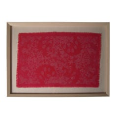 """Vintage Hot Pink Folly Cove Designers Fabric """"In Clover"""" 1964"""