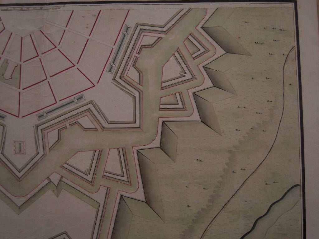 Fine and graphic star fort architectural drawing english for Architectural drawings for sale