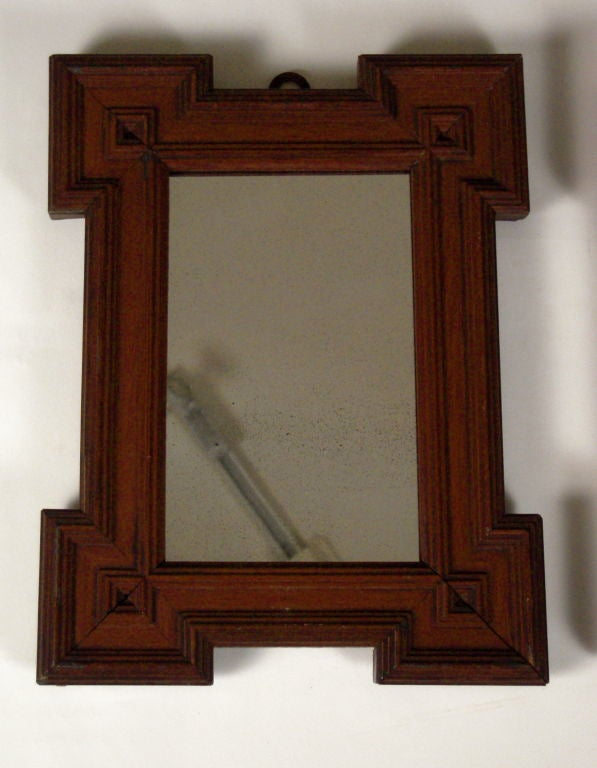 Pair of small baroque style mirrors at 1stdibs for Small baroque mirror