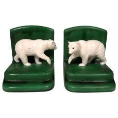 Pair of Polar Bear Bookends