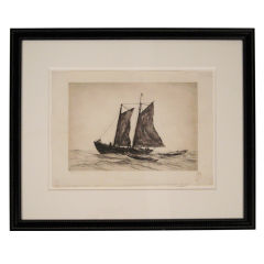 Reynolds Beal Gloucester Boat Etching, c. 1928