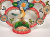 "Alfonso Castillo Mexican Pottery ""Tree of Life"" Candelabra image 2"