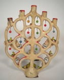 "Alfonso Castillo Mexican Pottery ""Tree of Life"" Candelabra image 7"