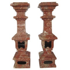 Pair of Baroque Marble Balustrade Elements
