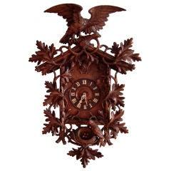 Impressive, Large 19th C Carved Black Forest Cuckoo Clock