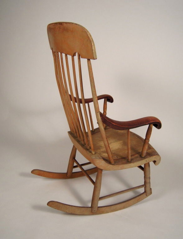 19th century american country painted rocking chair at 1stdibs