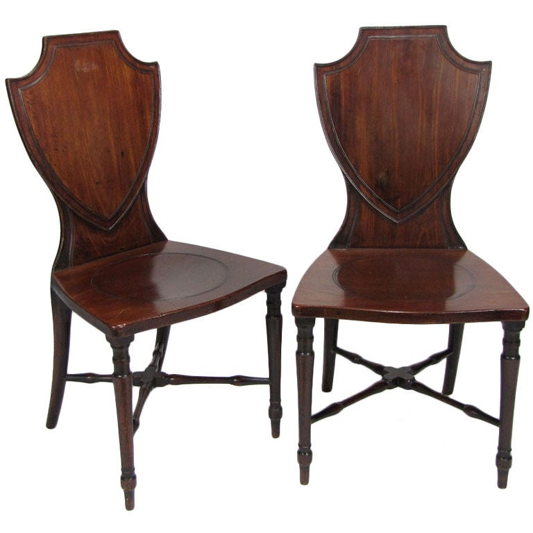 Pair of English Regency Period Mahogany Hall Chairs at 1stdibs : 8377131586376911 from www.1stdibs.com size 768 x 768 jpeg 56kB