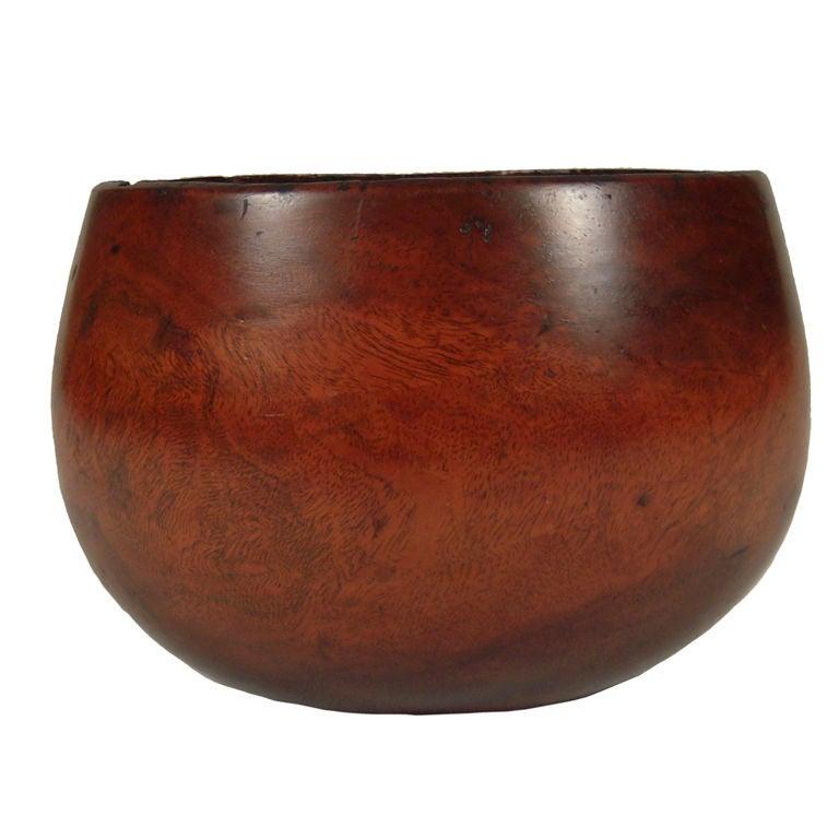 Rare Antique Hawaiian Kou Umeke Calabash Poi Bowl At 1stdibs