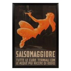 "Original  Italian Travel Poster ""Salsomaggiore"""