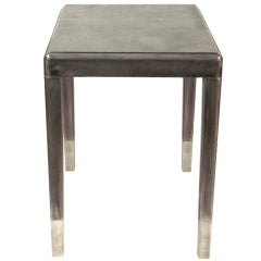 A 1940s Steel Industrial Table