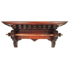 Renaissance Revival Hanging Wall Shelf in Walnut, c. 1880