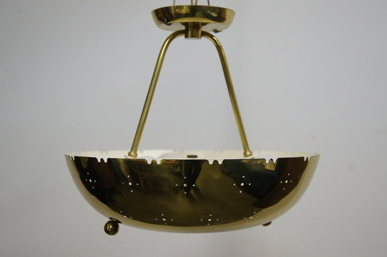 Brass Ceiling Lamp Fixture By Paavo Tynell At 1stdibs