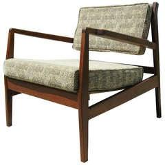 Low Walnut Armchair by Jens Risom