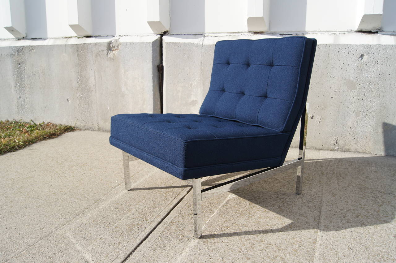 Etonnant Mid Century Modern Armless Lounge Chair By Florence Knoll For Sale