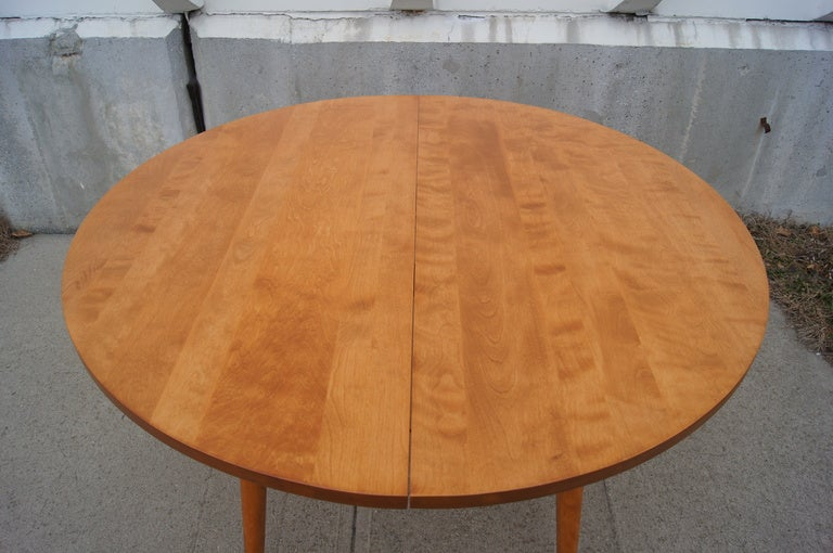 This Round Dining Table By Russel Wright For Conant Ball Is Made Of Solid