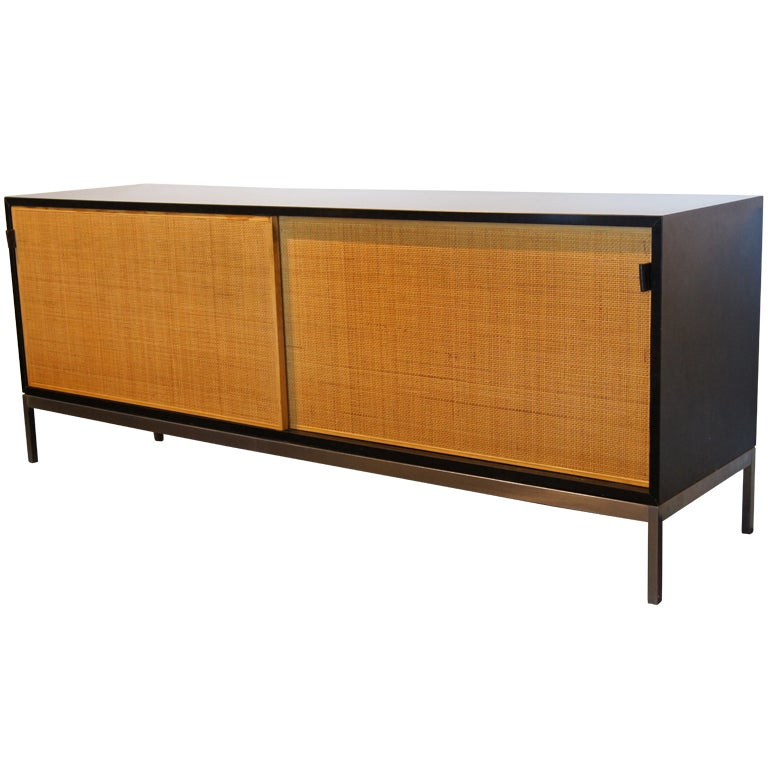 Credenza With Rattan Doors By Florence Knoll At 1stdibs