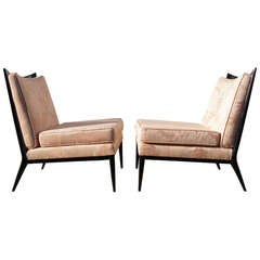 Pair of Armless Lounge Chairs by Paul McCobb